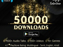 Voxit Podcast App crosses 50,000+ downloads in Playstore