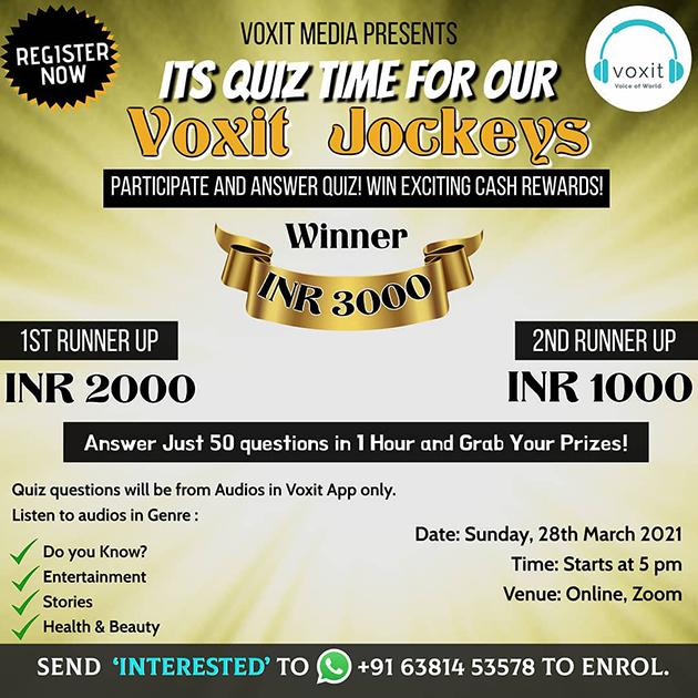 Quiz Time for Voxit Jockeys